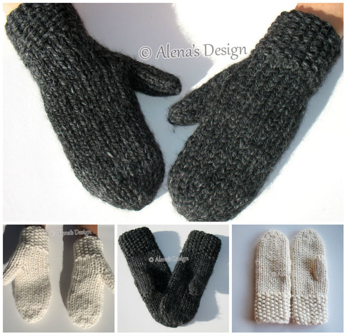 Mittens For All Knitting Pattern 199 Adult Size S/M/L Child Size XS/S/M/L