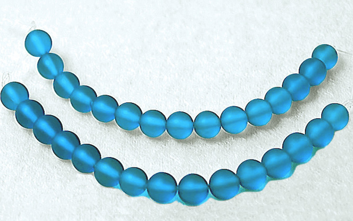 Tropical Waters - recycled sea glass beads-cultured sea glass beads-blue beach