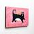 Valentine Tuxedo Cat Original Folk Art Acrylic Painting