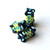 X-Squared Beaded Bead - Pattern by DatzKatz Designs