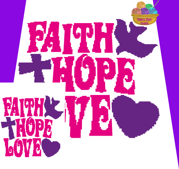 Faith Hope Love (mini c2c)