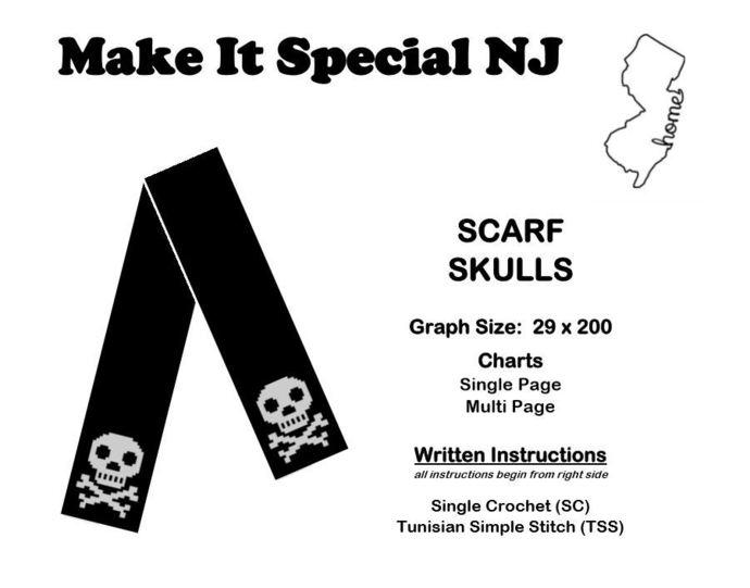 Skulls Scarf