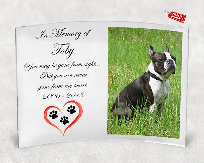 Where I/'ll Always Be Dog Memorial 5x7 Picture Frame with Pet Tag