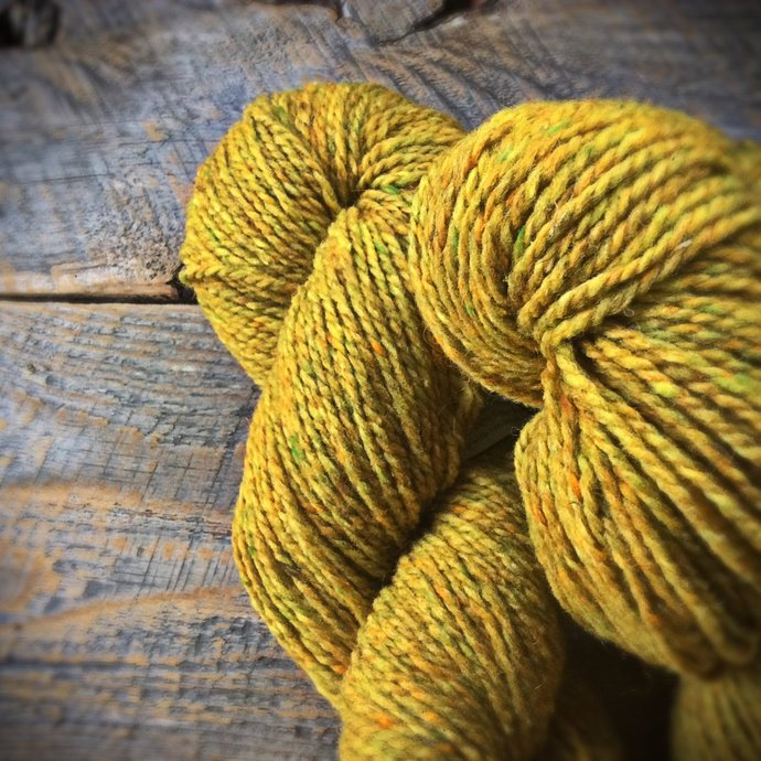 Peace Fleece yarn - Wild mustard, rustic wool yarn, knitting yarn, worsted