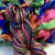 Bright Handspun wool - Bright Rainbow Yarn Art yarn