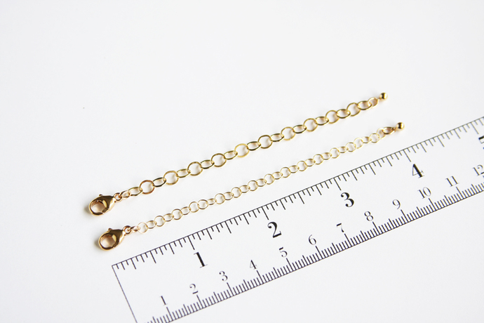 Adjustable Gold Fill Necklace Chain Extender Gold-Filled GF Lobster Clasp Custom