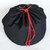 Denim & Geometric Print Toy Bag with Drawstring, Handmade Extra-large Laundry