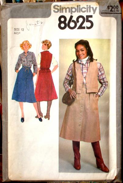 Simplicity 8625 Vintage Pattern