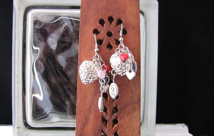 Charming! Heart Themed Cluster Earring Set - Item Number 5389