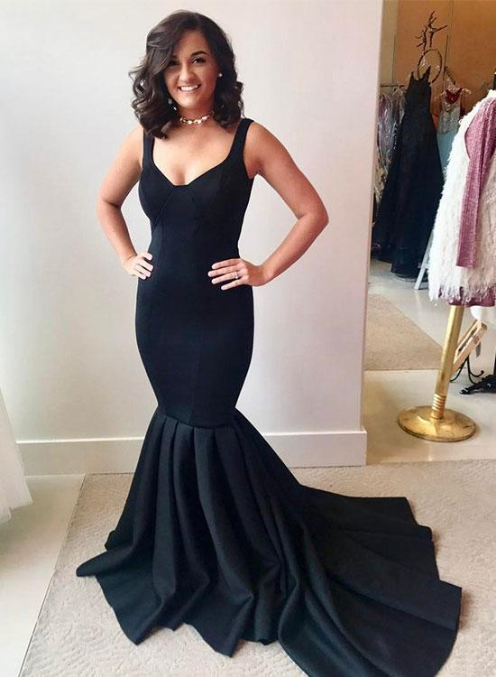 a8591d6a2fb7 Simple black mermaid long prom dress, black by PrettyLady on Zibbet
