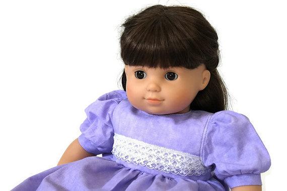 Lavender Doll Dress Light Purple & White Lace Cotton Summer Birthday Tea Party