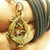 Duo Gecko with money bag Thai blessed amulet wealth lucky rich pendant talisman
