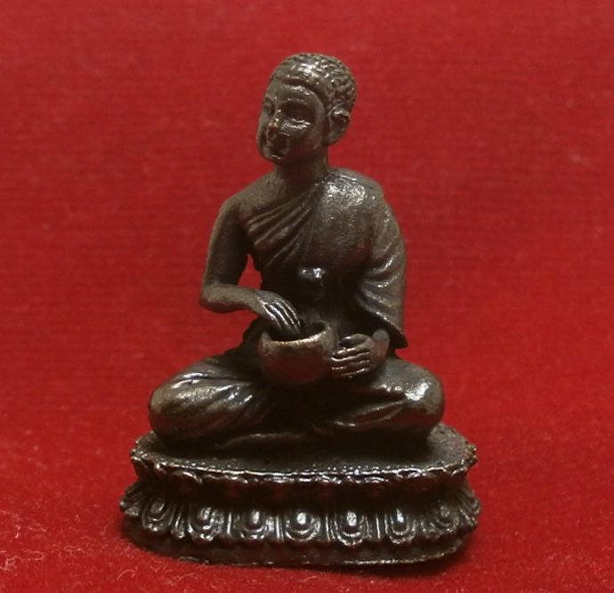 Sivali Thai mini metal amulet phra sivalee close disciple of lord Buddha blessed