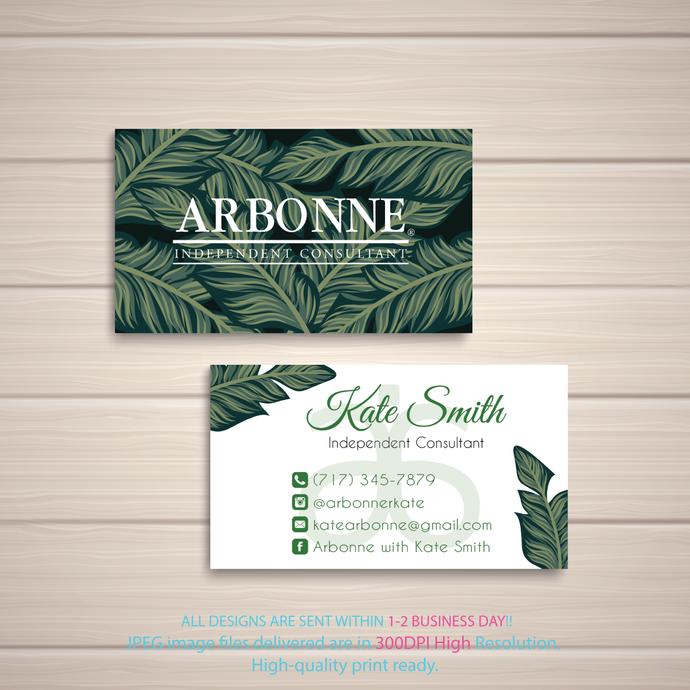 Personalized Arbonne Business Cards, Arbonne Digital file card, Arbonne