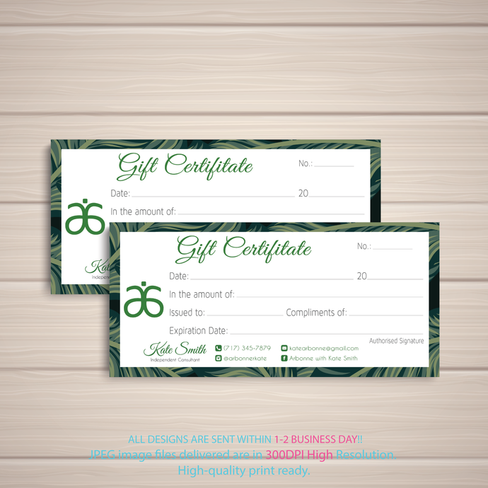 Arbonne Gift Certificate cards, Arbonne Gift Certificate, Arbonne Gift Cards,
