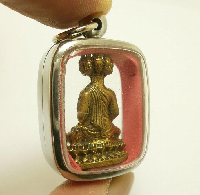 Phra NawaGote pendant Thai brass amulet Buddha Amulet  9 Faces Buddha blessing