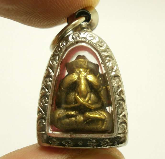 Close eye Lord Ganesh tiny Pidta God of success Ganesha Ganapati elephant head