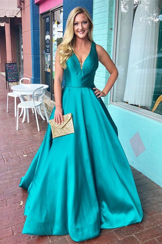 Teal Sexy Prom Dress
