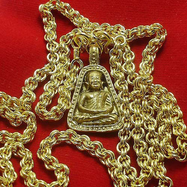 GOLD PLATED MICRON NECKLACE 24 INCHES FOR 1 BUDDHA AMULET PENDANT LUCKY GIFT
