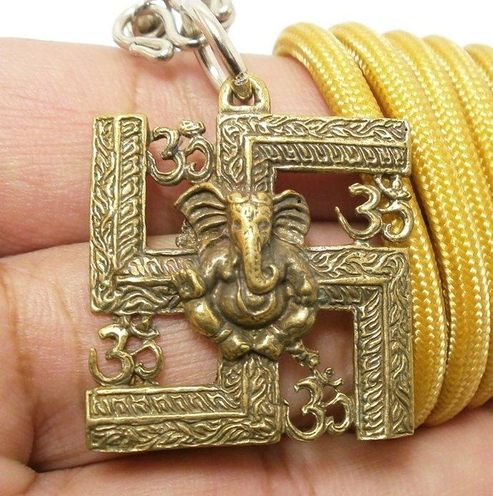 lord Ganesh ganapati vinayaka god of success om ohm aum trimurti sign thai hindu