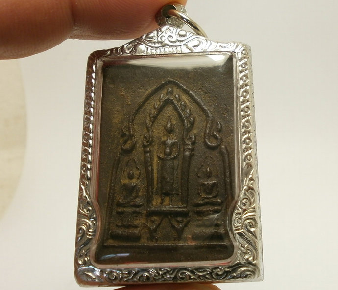 LP Boon Lord Buddha with 2 disciples back yant Love attraction Harmony Remove