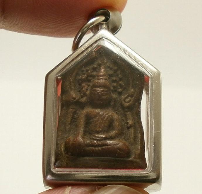 phra khunpaen ancient love attraction of Lumpoon thai Buddha amulet  Thailand