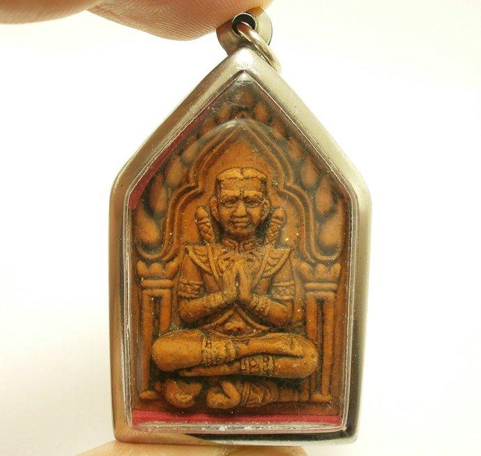 Red phra khunpaen Ma with guman thong kuman tong lp Pard magic miracle mantra
