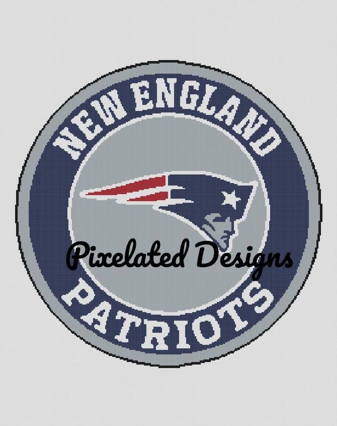 New England Patriots Pattern - SC - 280x352 - Graph w/Written - Full Version