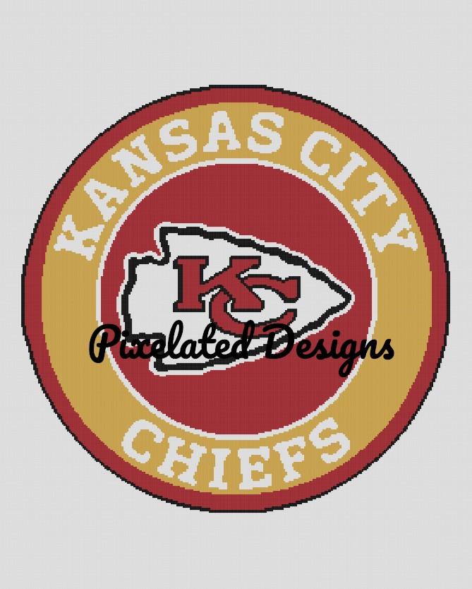 Kansas City Chiefs Pattern - SC - 280x352 Full/Double - Graph w/Written - Full