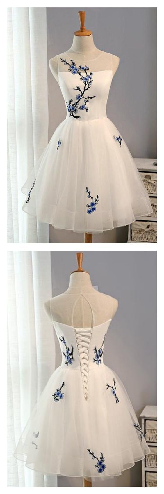 Lovely Cute Short Party Dress, Tulle Homecoming Dress