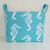 Extra Large Storage Basket Fabric Organizer in Premier Prints Sea Horse Coastal