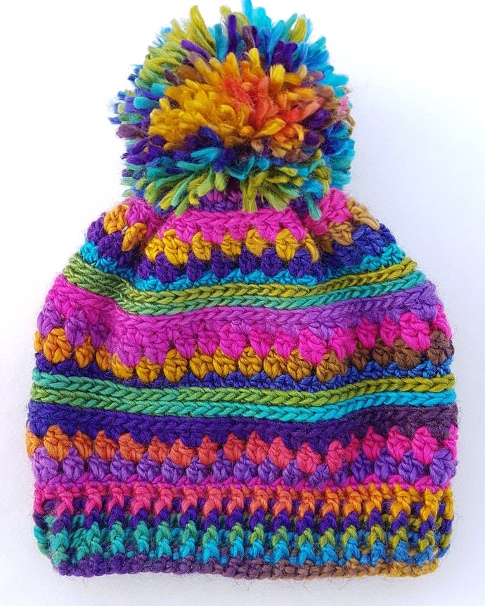 Super Colourful Tempest Beanie Slouchy