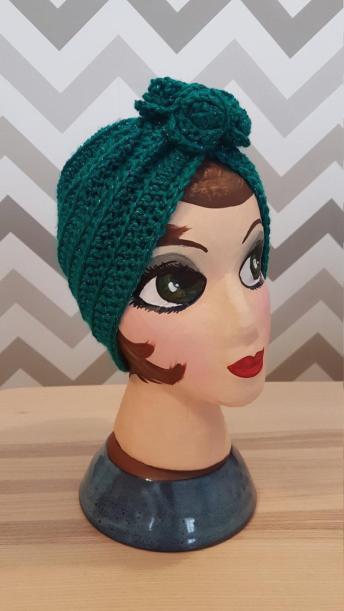 """Vintage Style Ladies """"Alma"""" Turban Hat"""