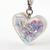 Magical Land Holographic Resin Heart Charm, Handbag Charm, Charms for Pets