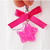 Hot Pink Star Charm with Ribbon, Charms for Cats, Pet Accessories, Zipper Pull