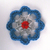 Blue White Red Recycled Aluminum Can Tab Christmas Flower Ornament