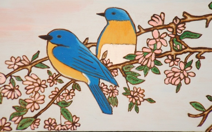 Blue Birds, Wood Wall Art, Home Decor