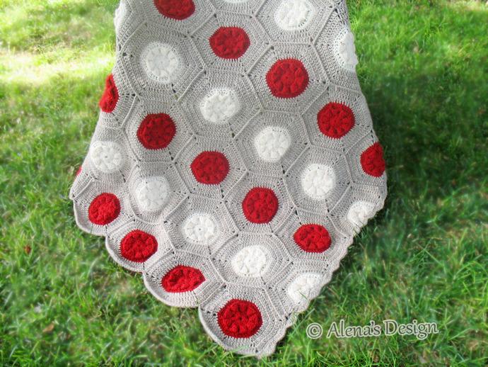 Crochet Blanket Pattern Hexagon Flower Blanket Crochet Pattern 212 Baby Blanket