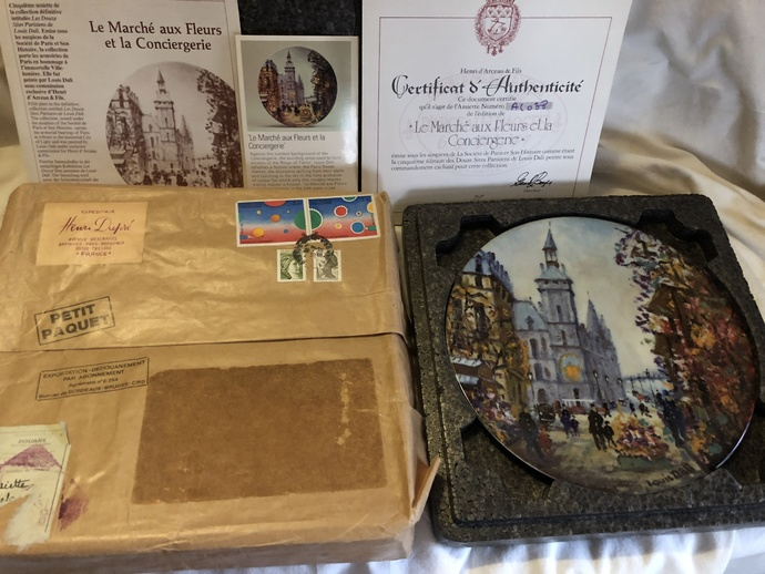 Limoges! Monet! Paris! Plates Oh My!  with RARE Original French