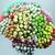 400 Rose Flower Mulberry Paper, 6mm, 16 colors, Scrapbook Craft, Wedding Decor