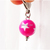Hot Pink Star Bead Charm with Stainless Steel Clip, Zipper Pull, Kawaii, Pet