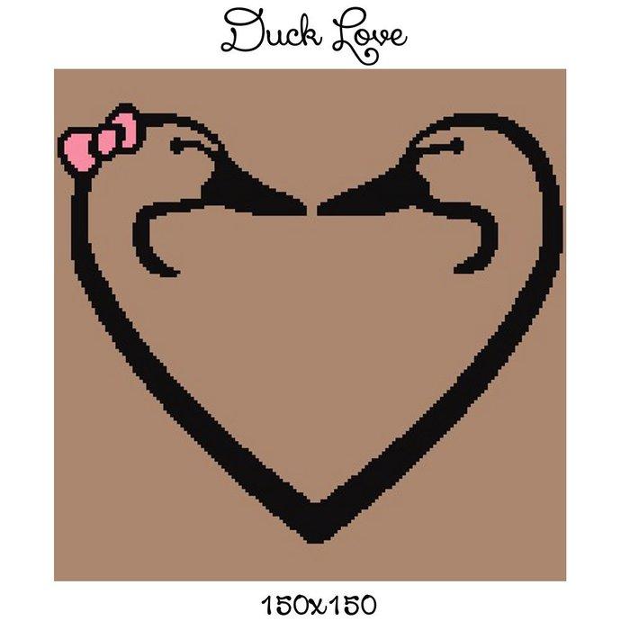 Duck Love Crochet Graph Pattern 150x150