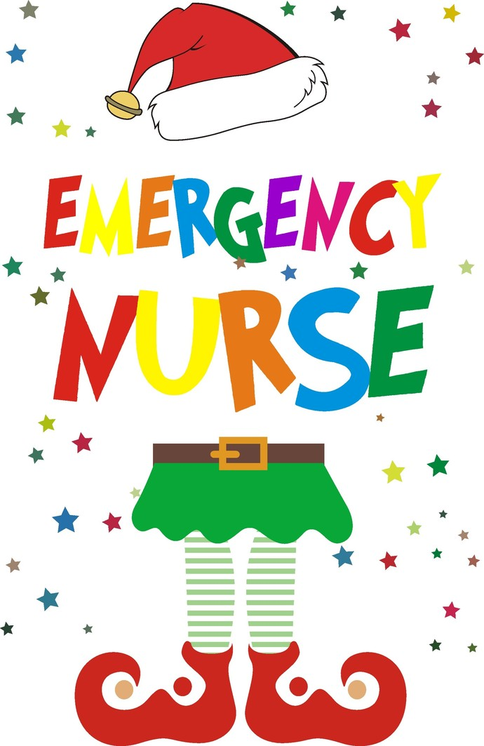 Nurse Christmas Svg.Emergency Nurse Elf Christmas File Holiday Elf Santa Clause Snow Life Elf Life Holiday Cheer Svg