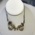 Boho Beaded Necklace, Seashore Found Objects, Black Leather, Adjustable Cord,
