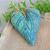 Valentine Heart Lavender Sachet | Blue & Turquoise Tapestry Heart