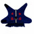 Lovely, Denim Dress with Embroidered Heart Motifs and Silver Bling, Red Heart