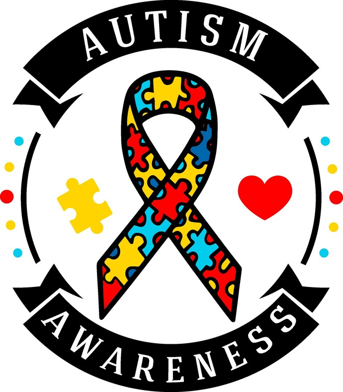 Autism awareness ribbon, autism awareness, light it up blue, totally au-some,