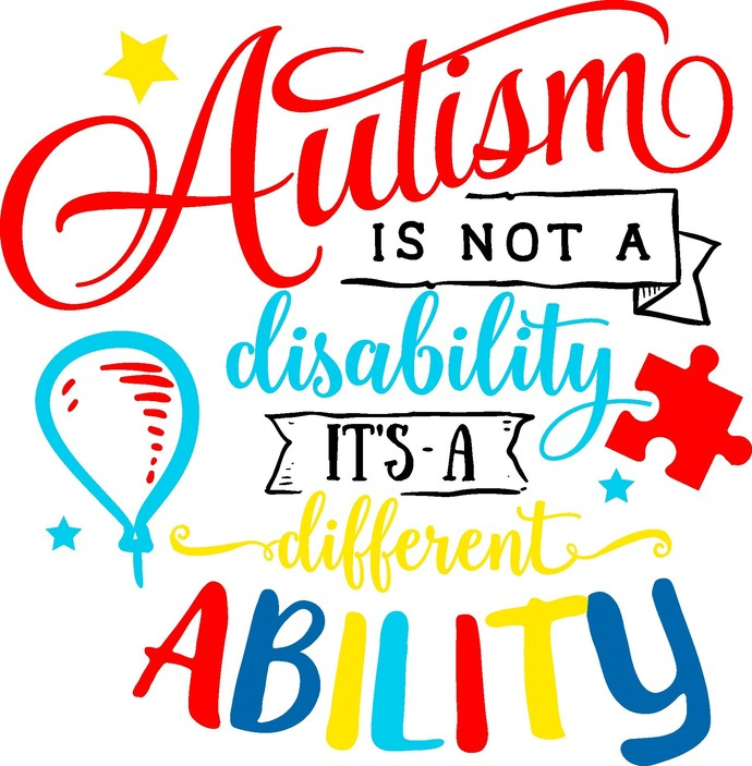 Autism is not a disability its a different ability, autism awareness, light it