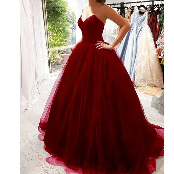 7e8bdbdaba Tulle Backless Prom Dress Ball Gown Girls Evening Long Formal Ball Dress