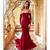 Bodycon Mermaid Long Prom Dress with Long Sleeves, Simple Prom Gown BD2197